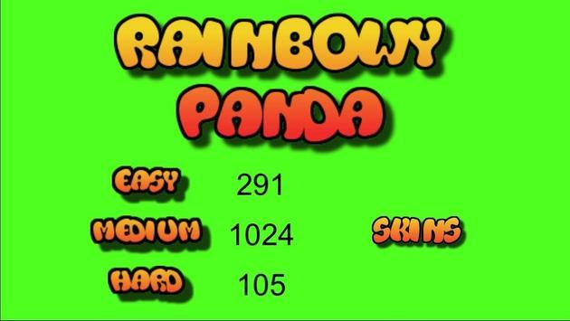 Rainbowy Panda poster