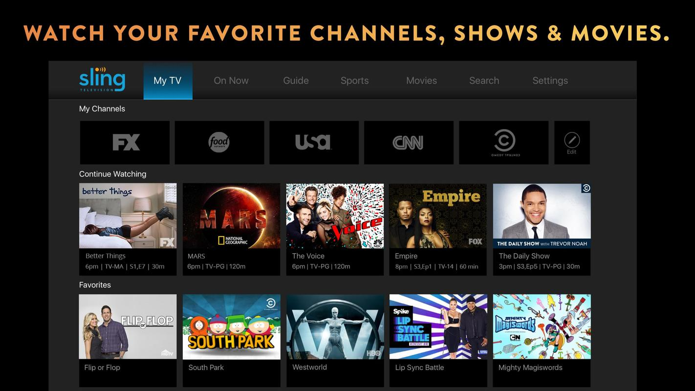 Sling TV APK Download - Free Entertainment APP for Android ...
