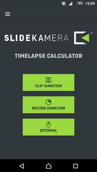 Slidekamera Timelapse Calc. poster