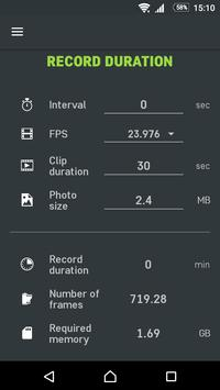 Slidekamera Timelapse Calc. screenshot 2