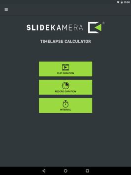 Slidekamera Timelapse Calc. apk screenshot