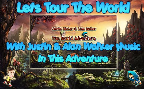 Justin Bieber And Alan Walker The World Adventure poster