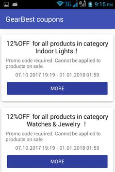 GearBest coupons screenshot 1