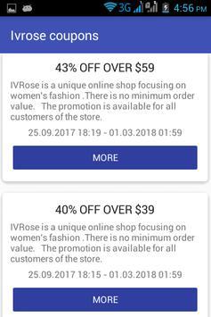 Ivrose coupons screenshot 1