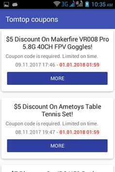 TOMTOP coupons screenshot 1