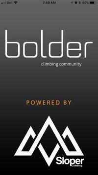 Bolder Climbing Community poster