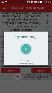 Slovak Polish Translator screenshot 2