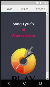 Alan Jackson Fine Lyrics poster