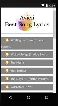 Avicii Fine Lyrics apk screenshot