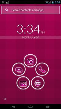 Smart Launcher Pink Neon poster