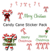 Candy Cane Sticker Pack