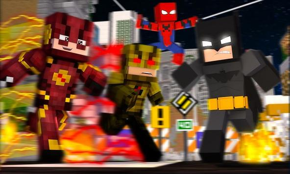 Superheroes Mod for MCPE poster