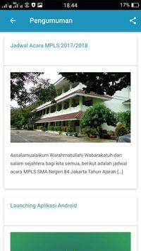 SMA Negeri 84 Jakarta apk screenshot