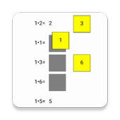 1 times table icon
