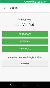 Justverified screenshot 1