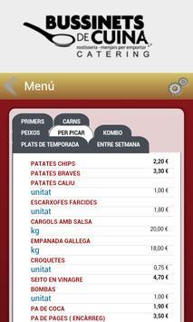 Bussinets de cuina apk screenshot