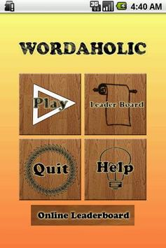 Wordaholic - Free Word Find apk screenshot