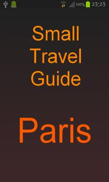 Map of Paris - Tourist Guide poster