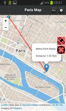 Map of Paris - Tourist Guide apk screenshot