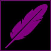 Calligraphy alphabet icon