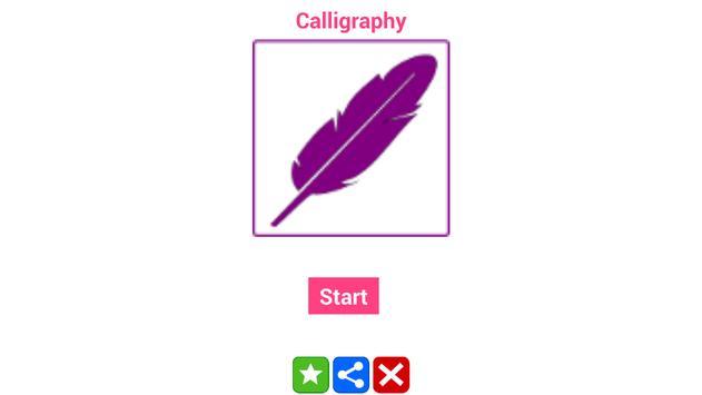 Calligraphy alphabet screenshot 5