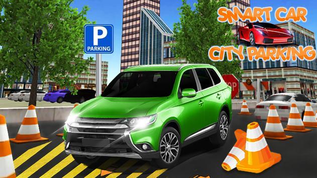 Smart car city parking poster