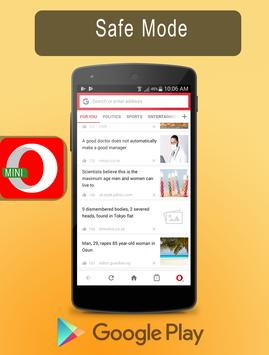 New Opera Mini - fast web browser Tips poster
