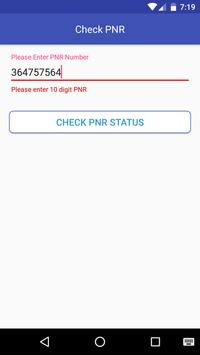 Indian Trains PNR ,Route Info apk screenshot