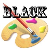 Black draw kids icon