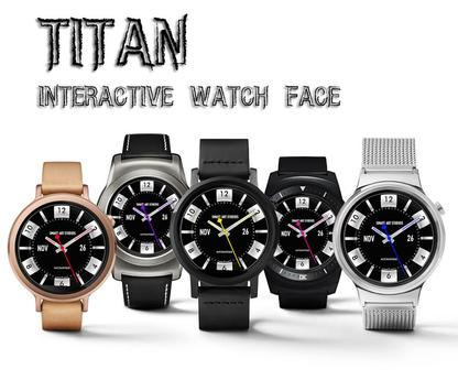 Titan Interactive Watch Face poster