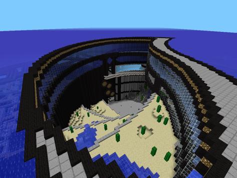 Underwater City for Minecraft poster