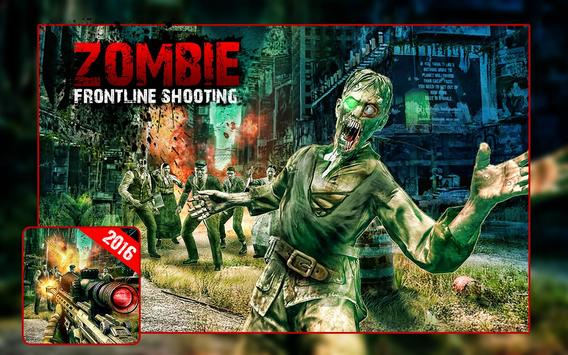 FPS Zombie Frontline Shooting poster