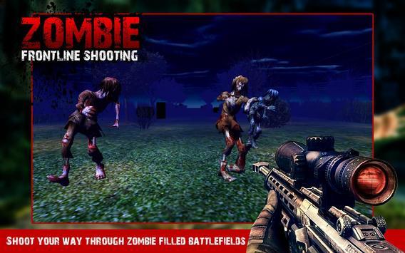 FPS Zombie Frontline Shooting apk screenshot
