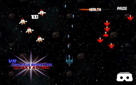 VR Roller Chicken Shooter Space Mission screenshot 3