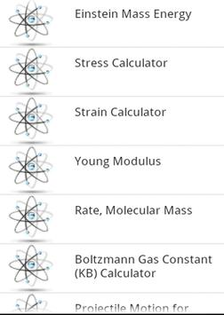 Classical Physics Calculators apk screenshot