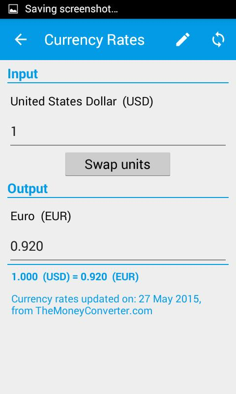 Unit Converter Currency Rates Screenshot 2