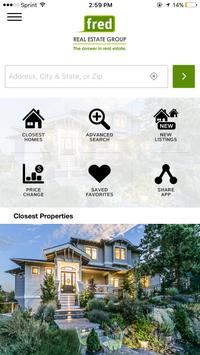 Fred Real Estate Home Search poster