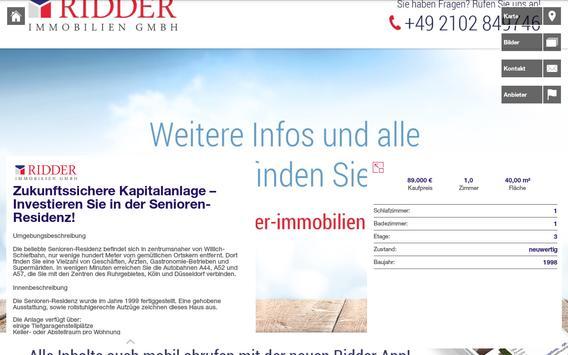 Ridder Immobilien Ratingen apk screenshot