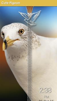 Cute Pigeon Zipper Lock apk screenshot