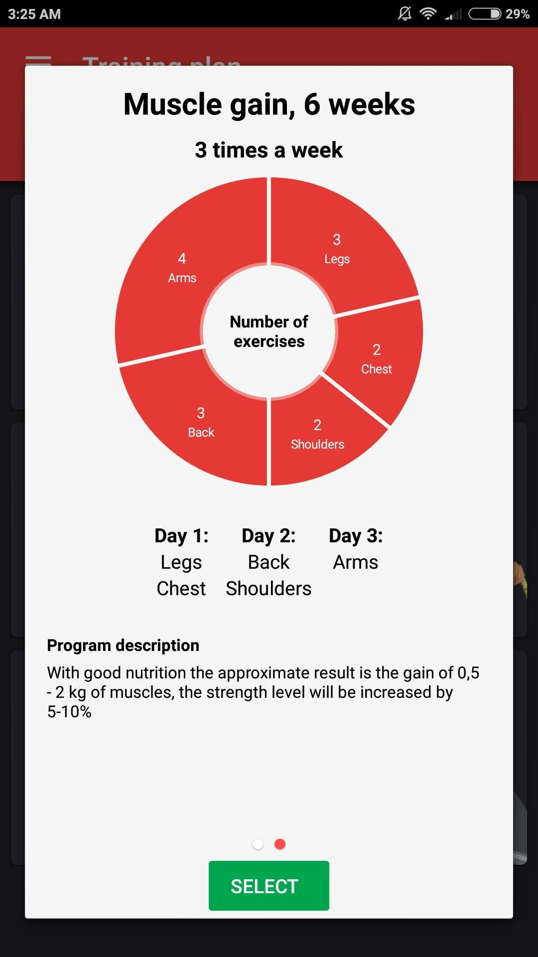 4 day per week strength workout