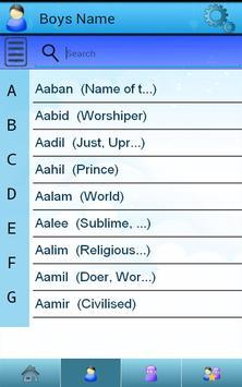 Muslim Baby Names apk screenshot