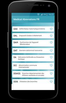 Medical Abbreviations FR apk screenshot