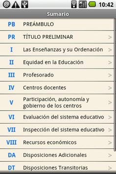Spanish Education Law apk screenshot