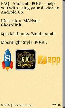 FAQ - Android - POGU - EN poster