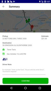 Taree Taxis screenshot 4