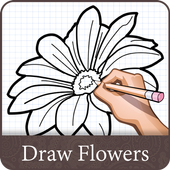 How To Draw Flower Design icon