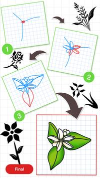How To Draw Flower Design screenshot 1