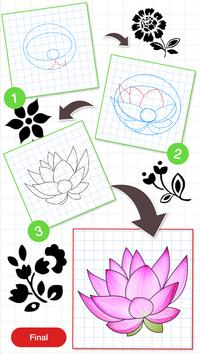 How To Draw Flower Design screenshot 3