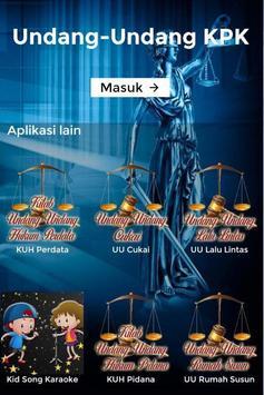 Undang-Undang KPK poster