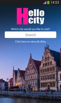 HelloCity - FREE City Guide poster